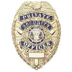 Hero's Pride 4102G PRIVATE SECURITY OFFICER - Oval - Traditional - Gold