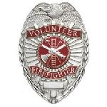 Hero's Pride 4185G VOLUNTEER FIREFIGHTER - Oval w/scramble - Gold