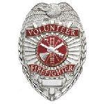 Hero's Pride 4185N VOLUNTEER FIREFIGHTER - Oval w/scramble - Nickel