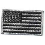 "Hero's Pride 42 U.S. Flag - Silver Grey And Black - 3-3/8 X 2"""