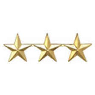 """Hero's Pride 4487N Pairs - Three 1/2"""" Stars - 2 Clutch - Nickel"""
