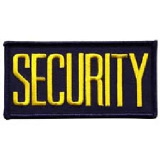 """Hero's Pride 5720 SECURITY - Med Gold on Navy - 4 X 2"""" - Sew-on"""