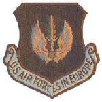 "Hero's Pride 7081 USAFE - Desert - w/Hook - 3 x 3"""