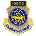 """Hero's Pride 7216 10,000 AIR MOBILITY COMMAND - w/Hook - 3 x 3-1/2"""""""