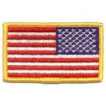 Hero's Pride 7341 U.S. FLAG-Full Color (reverse)-w/Hook - 3-3/8x2""