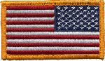 "Hero's Pride 7347 U.S. FLAG - Reverse w/Hook - 3-1/4"" X 1-13/16"""