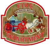 Hero's Pride 8259A Fire Department - Always Ready - 12 X 11-1/2