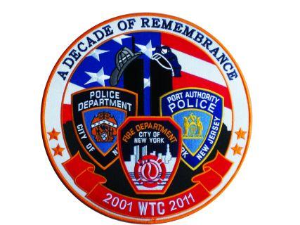"""Hero's Pride 8364 2001 WTC 2011 A Decade Of Remembrance - 11-3/4"""" Circle"""