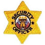 """Hero's Pride 83 Security Officer - 6 pt Gold Star - 3 X 3"""""""