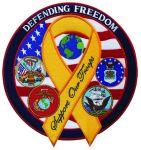 "Hero's Pride 8422 Defending Freedom w/ribbon - 5""Circle"