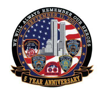 Hero's Pride 8469A 5 Years Anniversary - September 11, 2001 - 12 X 12