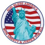 "Hero's Pride 8485T07 With Justice & Liberty For All - 12""Circle - Framed"