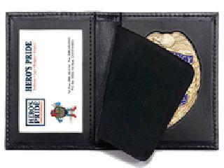 """Hero's Pride 9100-0128 Bi-Fold Badge Case w/ Id Window - 2-5/8"""" 5-Pt Star Die Cut 128"""