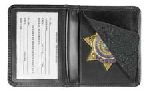 Hero's Pride 9101-0001 Deluxe Low Profile Badge Case w/ Id - Shield Badge Die Cut 1