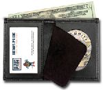 Hero's Pride 9105-0003 Deluxe Bi-Fold Badge Wallet w/ Id Window - 2-Flag Badge Die Cut 3