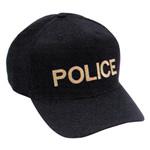 Hamburger Woolen Company Inc CAP3SBK Twill/Mesh On Black, Police