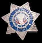 Hamburger Woolen Company Inc Hamburger Woolen Company Inc 7113 7 Point Star Badge - Bail Enforcement Agend - Breast Badge