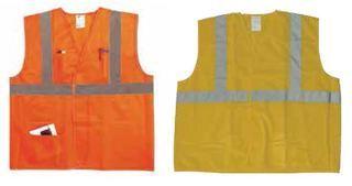 Hamburger Woolen Company Inc ANSI2OLLG Lg/Xlg Ansi 2 Orange Vest/Silver