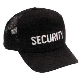 HWC Equipment   CAP1SBK   Twill/Mesh Security  Caps