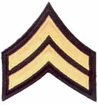 "Hamburger Woolen Company Inc Hamburger Woolen Company Inc CORCHEV Corporal Chevrons - 3-1/2"", 2 Color Embroidery"