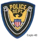 Hamburger Woolen Company Inc EAGLE-4 Eagle Patch Police Dept. Blue/White/Black