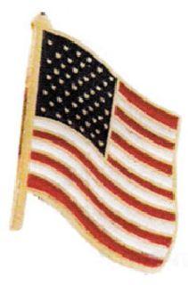 Hamburger Woolen Company Inc FLAGTACK2 Usa Flag With Tie Tack Backing