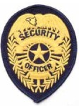 Hamburger Woolen Company Inc P104B P104b Security Officer Badge Patch