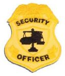 Hamburger Woolen Company Inc P1141 Security Officer Badge Patch, Silver