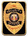 Hamburger Woolen Company Inc P8104Q-1 Silver/Black Security Officer Rectangle