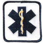 Hamburger Woolen Company Inc PEMT-1 Star Of Life, Blue On White