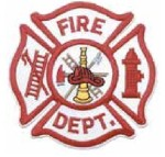 Hamburger Woolen Company Inc PFIRE-1 Fire Department, Red On White