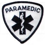 Hamburger Woolen Company Inc PPARA-1 Paramedic Blue On White
