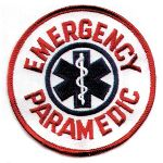 "Hamburger Woolen Company Inc PPARA-2 Paramedic 4"" Round White/Blue/Red"