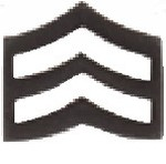 Hamburger Woolen Company Inc VOR Corporal Chevron, Large, Black