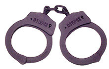 HWC nickel-plated handcuffs