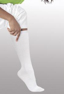 Landau 14300 White Compression Knee High Socks /1 Pr.