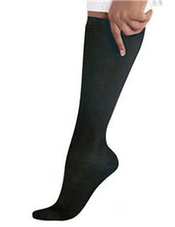 Landau 14317 Black Compression Knee High Socks /1 Pr.