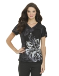 Landau 4063 4063 Pintuck Crossover V-Neck Top