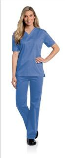 Landau 4139 All-Day Unisex V-Neck Scrub Top