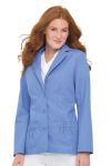 Landau 7733 Labcoat w/Three Buttons And Shirred Pockets
