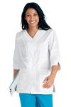 Landau 8714 Labcoat 3/4 Length Sleeve Pintuck Detail