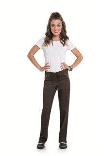 Landau S207002 Womens Straight Leg Pant With Elastic