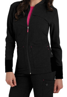 Landau S303008 Tour - Womens Smitten Zip Front Jacket With Rib Detail