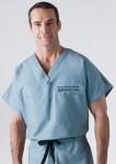 Medline 648 Unisex Reversible 100% Cotton Cap Sleeve Scrub Top