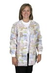 Medline 816 Angel Stat Bunnies And Bears Snap Front Warm-up Jacket