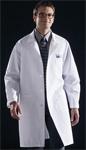 Medline 83044 Knee Length White Unisex Lab Coat