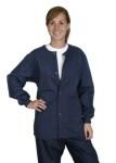 Medline 8832 Comfortease Unisex Crew Neck Warm-up Jacket