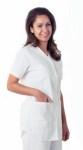 Medline 8834 Comfortease Shirttail Scrub Top