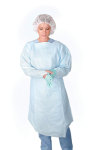 Medline CRI5001 Polyethylene Thumb Loop Style Isolation Gowns