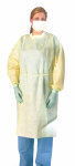 Medline NON27SMS2 Medium Weight Multi-Ply Fluid Resistant Isolation Gown,Yellow